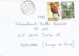 Togo 1996 Glei 1 Fire-crowned Bishop Bird Flower Cover - Togo (1960-...)