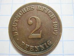 2 Pfennig 1907 (A) - [ 2] 1871-1918 : German Empire