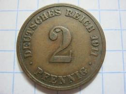 2 Pfennig 1911 (D) - [ 2] 1871-1918 : German Empire
