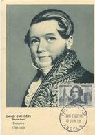 DAVID D'ANGERS  (Yvert N°1210) Carte Maximum / 1959 - 1950-59