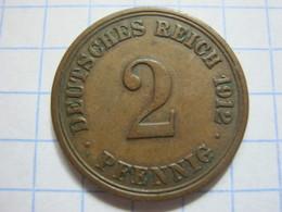 2 Pfennig 1912 (A) - [ 2] 1871-1918 : German Empire