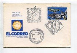AFISAL, ASOCIACION FILATELICA DE SALTO, PROTOPARCE LUCETIUS. URUGUAY AÑO 1988 SOBRE PRIMER DIA ENVELOPE FDC - LILHU - Filatelia & Monedas