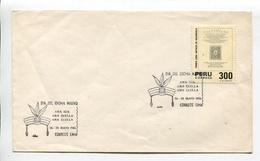 DIA DEL IDIOMA NATIVO. PERU AÑO 1986 SOBRE PRIMER DIA ENVELOPE FDC - LILHU - Idioma