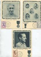 HEROS DE LA RESISTANCE (Yvert N°1198 à 1202) Carte Maximum / 1959 - 1950-59