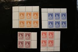 Nauru 35 - 38 Coronation Of George VI  MNH 2 Blocks Of 4 2 Blocks Of Six 1978 A04s - Nauru