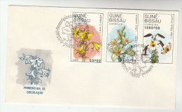 1989 GUINEA BISSAU  FDC Stamps LILY FLOWERS Flower Cover Guine - Other