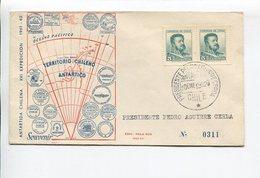 ANTARTIDA CHILENA XVI EXPEDICION 1961/1962 CHILE AÑO 1962 SOBRE PRIMER DIA ENVELOPE FDC - LILHU - Expediciones Antárticas