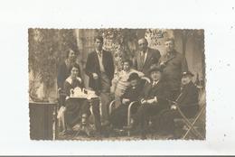 SIGNES (VAR) CARTE PHOTO  A LA VILLA POLLIN (POLIN) 1923 BELLE ANIMATION - Signes