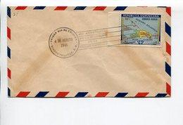 45° ANIVERSARIO DE LA FUNDACION DE LA CIUDAD CAPITAL REPUBLICA DOMINICANA AÑO 1946 SOBRE PRIMER DIA ENVELOPE FDC - LILHU - Historia