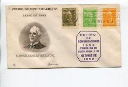 CORONEL CHARLES HERNANDEZ, DIRECTOR GRAL. DE COMUNICACIONES CUBA AÑO 1952 SOBRE PRIMER DIA ENVELOPE FDC - LILHU - Celebridades