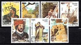 Cambodja 1990 MI.NR. 1185-1191 Entdeckung Von Amerika  USED / GEBRUIKT / OBLITERE - Camboya