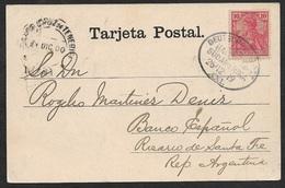 1900 - 1901 - DR - AK DEUTSCHE SEEPOST - HAMBURG SÜDAMERIKA LINIE - Tenerife Nach Argentinien - Briefe U. Dokumente