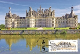France 2019 - Château De Chambord Maximum Card - Cruz Roja