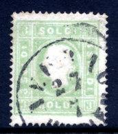 AUSTRIA: LOMBARDY VENETIA 1858 3 Soldi Green Type II  Used.  Michel 8 II - 1850-1918 Empire