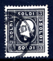 AUSTRIA: LOMBARDY VENETIA 1858 3 Soldi Type II  Used.  Michel 7 II - 1850-1918 Imperium