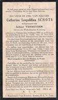 Tienen, Tielt, 1939, Catharina Schots, Verheyden, - Images Religieuses