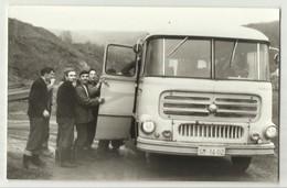 Serbia Vrdnik Station Bus - Old BUS ,Rare Foto Postcard - Buses & Coaches