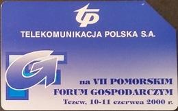 Telefonkarte Polen - Tczew - Wirtschaftsforum - Poland