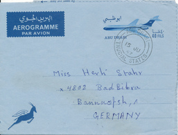 UAE / ABU DHABI - 1967 , Aerogramme Nach Bad Bebra - Abu Dhabi