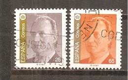 España/Spain-(usado) - Edifil  3260, 3262 - Yvert  2854, 2856 (o) - 1931-Hoy: 2ª República - ... Juan Carlos I