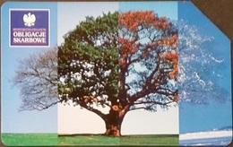 Telefonkarte Polen - Baum - Jahreszeiten - Poland