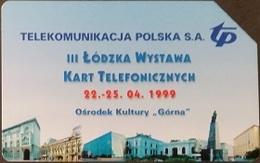 Telefonkarte Polen - Lodz - Telefonkartenaustellung 1999 - Poland