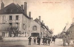 71 - Bourbon-Lancy - Rue D'Autun (animée, Grand Café, Edit, B Ferrand 1907) - Otros Municipios