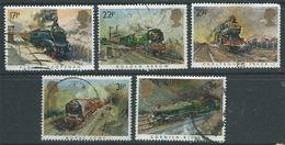 GROSSBRITANNIEN GRANDE BRETAGNE GB 1985 TRAINS SET 5V USED  SG 1272-6 SC 1093-97 MI 1017-21 YT 1168-72 - 1952-.... (Elisabeth II.)