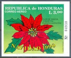 G100- Honduras 1990. Christmas. Flowers Orchidees Orchids. - Honduras