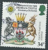 GROSSBRITANNIEN GRANDE BRETAGNE GB 1987 SCOTTISH HERALDRY: ARMS OF ROYAL SOCIETY OF EDINBURGH  34P SG 1366 SC 1187 MI - 1952-.... (Elisabeth II.)