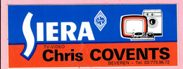 Sticker - SIERA - TV Video - Chris COVENTS - Beveren - Autocollants