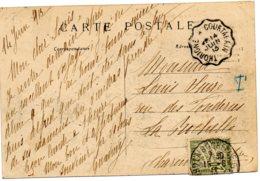 FRANCE.1913. PLI TAXE AVEC CONVOYEUR-LIGNE. - Poste Ferroviaire