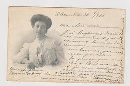 Cartolina Spedita Da Alessandria A Linda Aghion In Francia Nel 1908  - F.p. -  Anno 1900 - Celebrità