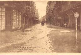 """4725 """" LIEGE-CRUE DE LA MEUSE 1925-1926 RUE DU PONT D'AVROY  """"ANIMATA-ALLUVIONE-CART. POST. OR. NON SPED. - Belgio"""