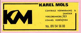 Sticker - KAREL MOLS - C.V. & Sanitair - Verlorenhoek Lommel Kerkhoven - Autocollants