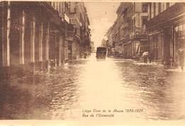 """4726 """" LIEGE-CRUE DE LA MEUSE 1925-1926 RUE DE L'UNIVERSITE'  """"ANIMATA-ALLUVIONE-CART. POST. OR. NON SPED. - Belgio"""
