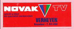 Sticker - NOVAK TV - Verheyen Vosselaar - Autocollants