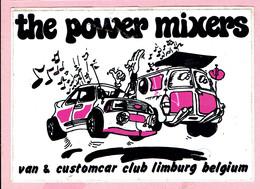 Sticker - The Power Mixers - Van & Customcar Club Limburg Belgium - Autocollants