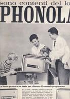 (pagine-pages)PUBBLICITA' PHONOLA  Tempo1961. - Libri, Riviste, Fumetti