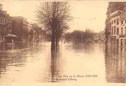 """4730 """"LIEGE-CRUE DE LA MEUSE 1925-1926  BOULEVARD D'AVROY """"-ALLUVIONE-CART. POST. OR. NON SPED. - Belgio"""
