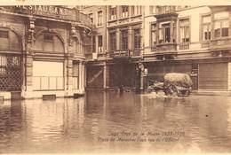 "4731 ""LIEGE-CRUE DE LA MEUSE 1925-1926  PLACE DU MARECHAL FOCH RUE DE L'OFFICIAL""AN-ALLUVIONE-CART. POST. OR. NON SPED. - Belgio"