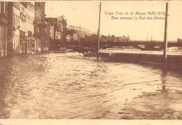 """4732 """"LIEGE-CRUE DE LA MEUSE 1925-1926 QUAI S/MEUSE LE PONT DES ARCHES""""-ALLUVIONE-CART. POST. OR. NON SPED. - Belgio"""