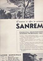 (pagine-pages)PUBBLICITA' SANREMO  Tempo1961. - Libri, Riviste, Fumetti