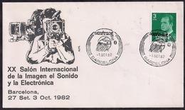 España - 1982 - FDC - XX Salon International De L'image Sonore Et électronique - Cinema