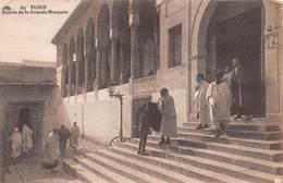 """4734 """" TUNIS-ENTREE DE LA GRANDE MOSQUEE """"ANIMATA-CART. POST. OR. SPED.1931 - Tunisia"""