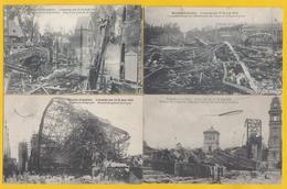 EXPOSITION INTERNATIONALE DE 1910,L'INCENDIE DES 14-15 AOUT.4 CARTES. - Weltausstellungen