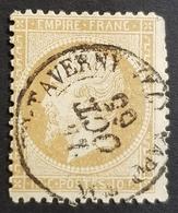1862, Emperor Napoléon Lll, 10c, Bistre, Empire Française, France - 1862 Napoleon III