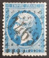 1862-1871, Emperor Napoléon Lll, 20c, Bleu, Empire Française, France - 1862 Napoleon III