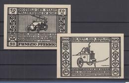 Notgeld Stadt Waldenburg Schlesien Feuerwehr Feuerwehrauto 50Pfg Schwarz 1919 - [11] Local Banknote Issues
