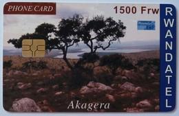 RWANDA - Chip - 1st Card - 1500 FW - Used - Rwanda